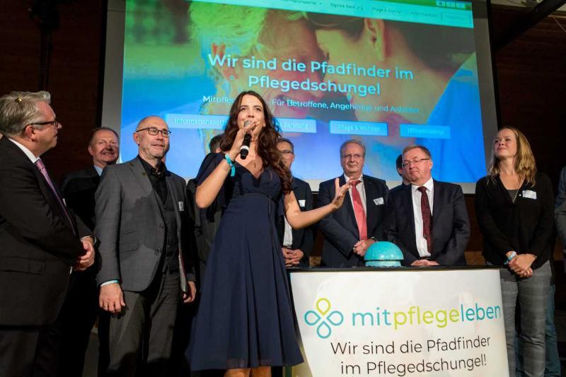 Cornelia Röper, Geschäftsführerin der mitunsleben GmbH, beim Launch der Plattform, ©Nadja Wohlleben