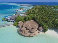 Ansicht auf die Insel und das Resort