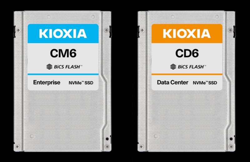 NVMe-SSDs der Serien CM6 und CD6 von KIOXIA (Quelle: KIOXIA)