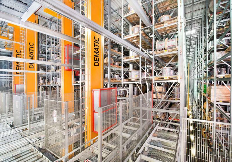 Das Dematic Standardised Automated Pallet Storage nutzt die Fläche optimal aus. (Foto: Dematic)