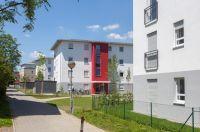 In Unterhaching errichtete die kommunale Baugesellschaft drei neue Wohnriegel aus massiven Unipor-Mauerziegeln (Bild: Unipor).