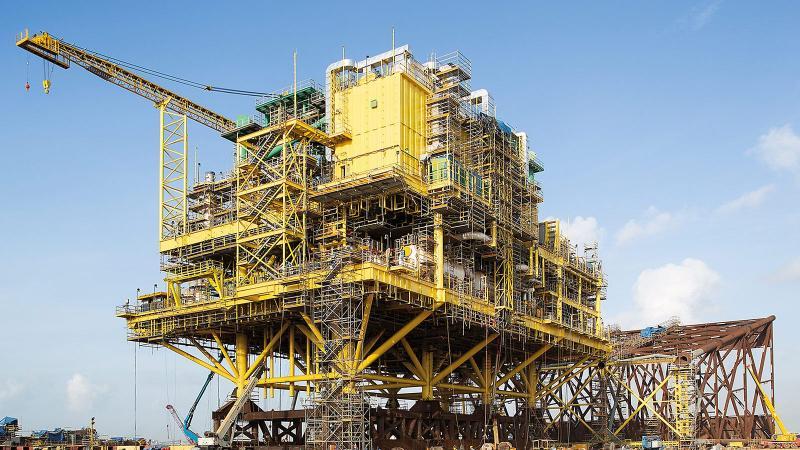 Die Gaskompressorplattform CA-KU-A1 wurde mithilfe von umfassenden PERI Gerüstlösungen errichtet.