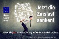Lassen Sie jetzt Ihren Hauskredit auf Widerruf und die Möglichkeit der Zinssenkung prüfen.