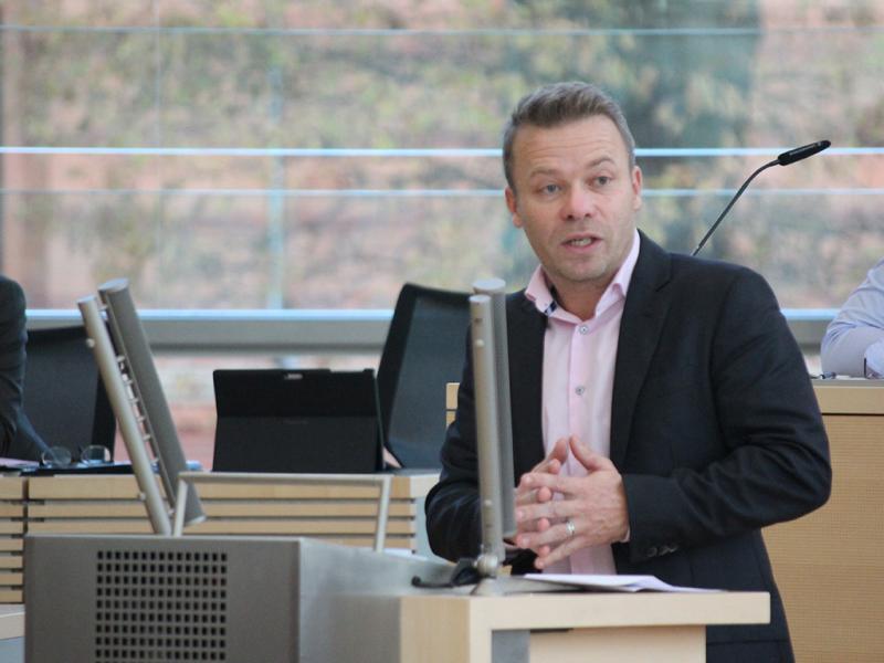 Dr. Frank Brodehl, bildungspolitischer Sprecher der AfD-Fraktion im Kieler Landtag