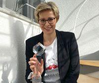 Eva Kraft von der getaweb GmbH freut sich über den Gewinn des Deutschen Agenturpreises 2020.