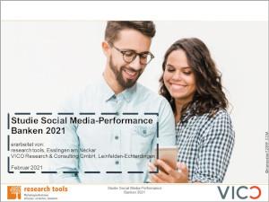 Studie Social Media-Performance Banken 2021