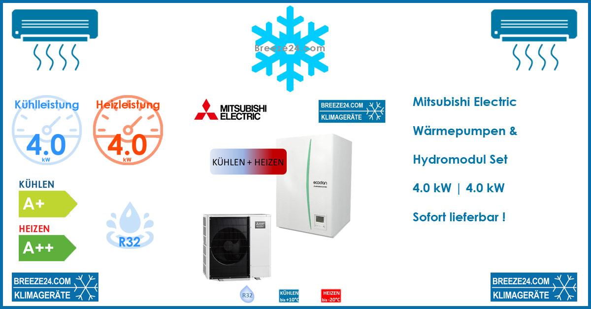 Mitsubishi Electric Set ERSD-VM2D Hydromodul + Wärmepumpe SUZ-SWM40VA   4,0 kW   R32
