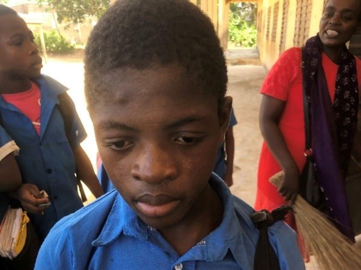 Das ist Roderigo, 11 Jahre alt, aus Kamerun
