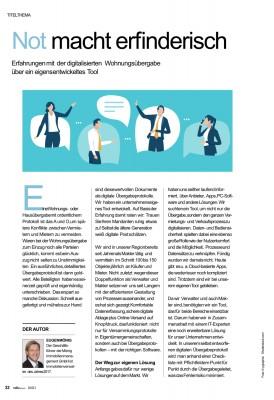 Auszug aus dem Beitrag aus VDIVaktuell 4/21, Seite 34&35 (© AVR Agentur für Werbung und Produktion